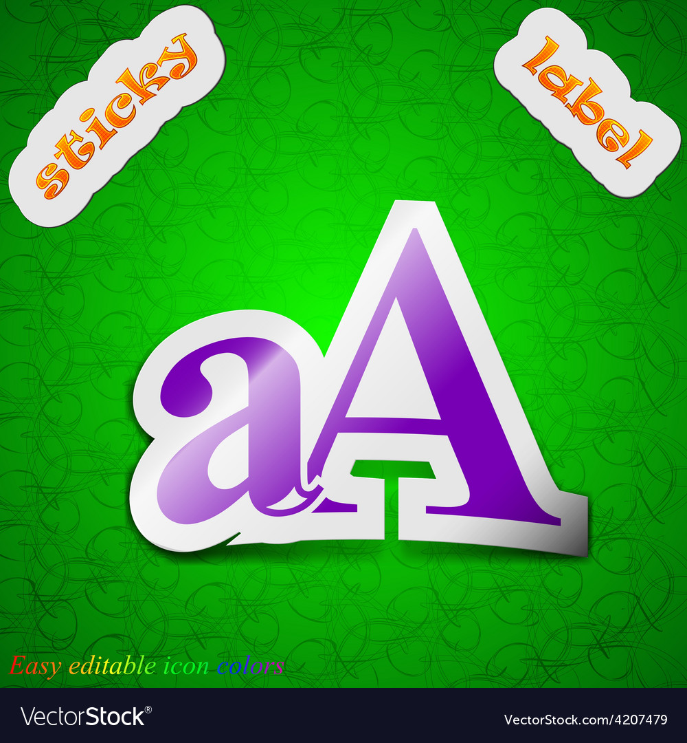 Enlarge font aa icon sign symbol chic colored vector | Price: 1 Credit (USD $1)