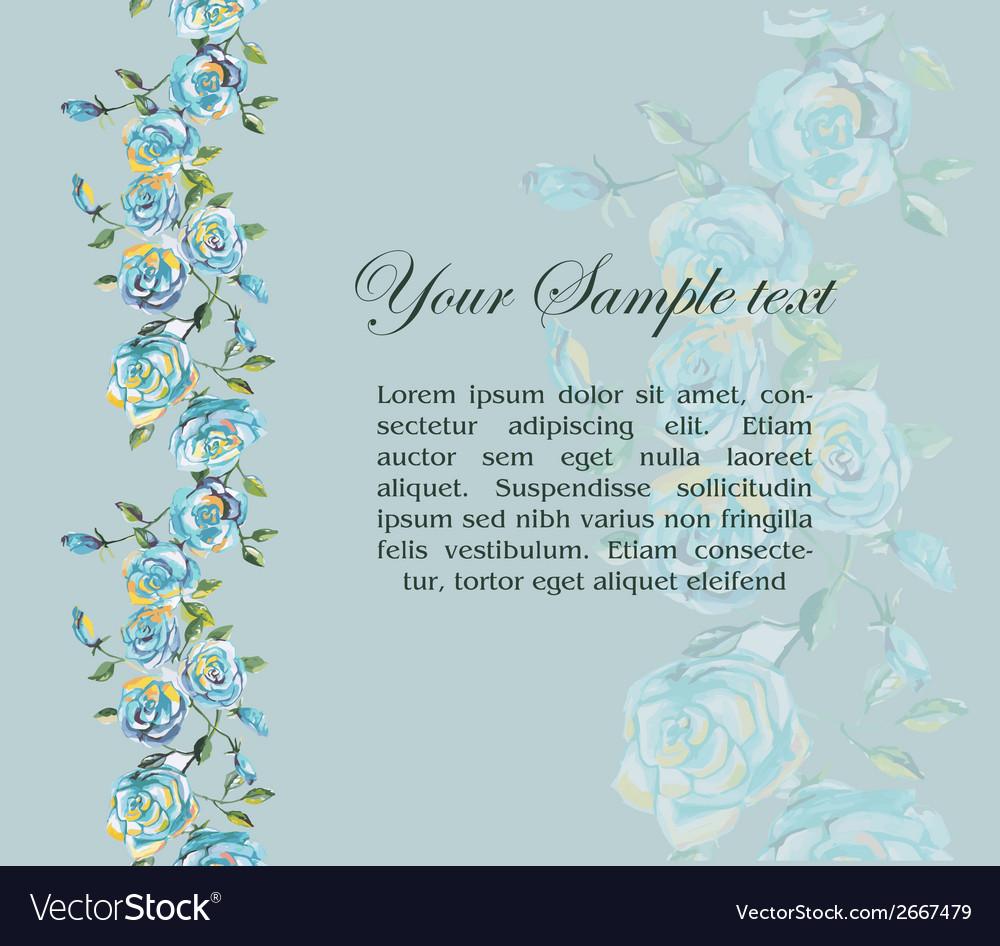 Floral watercolor border vector | Price: 1 Credit (USD $1)