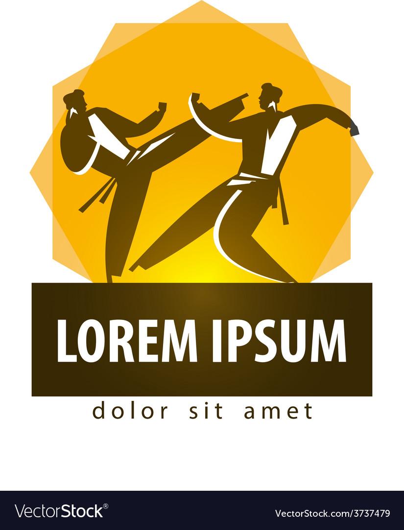 Karate logo design template combat sport vector | Price: 1 Credit (USD $1)