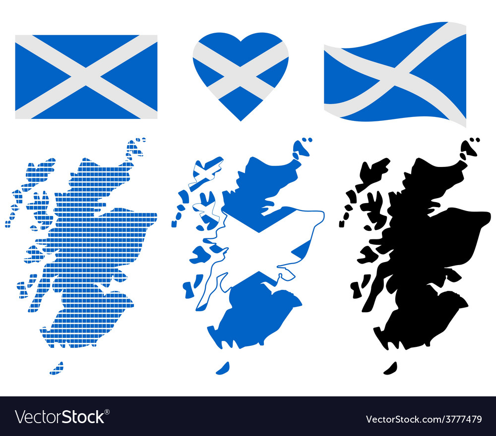 Map of scotland vector | Price: 1 Credit (USD $1)