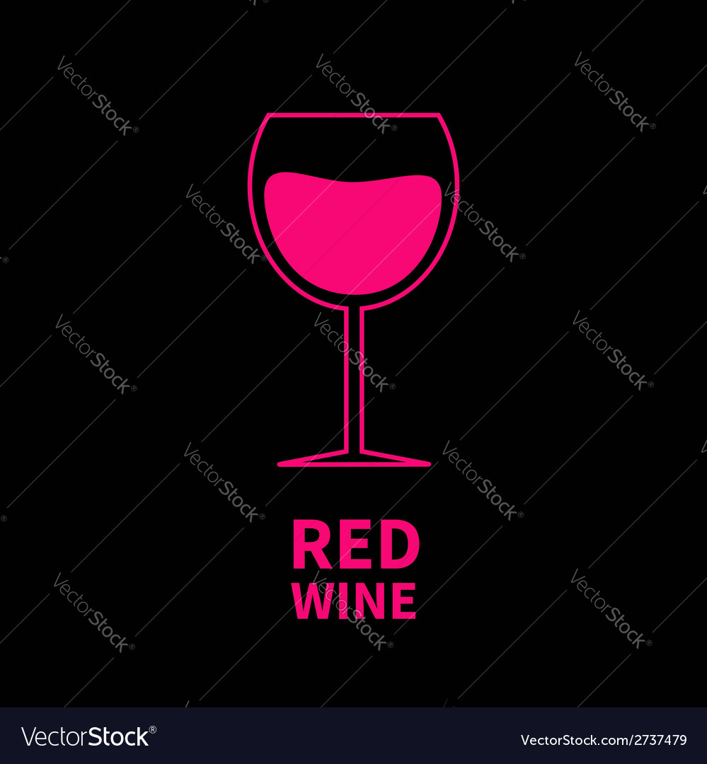 Pink wine glass black background vector | Price: 1 Credit (USD $1)