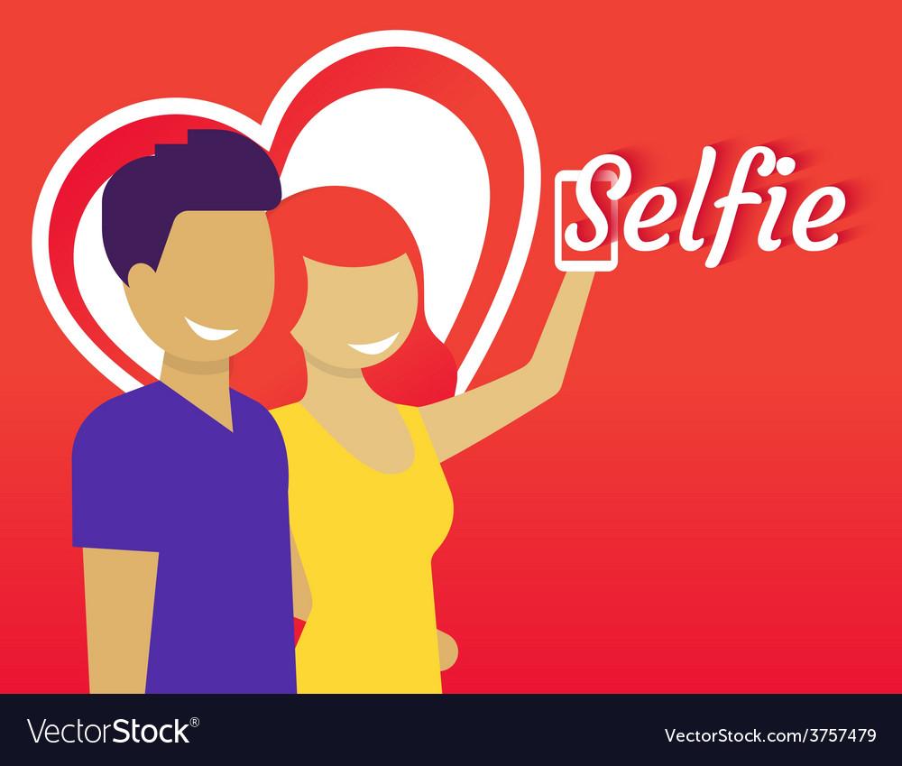 Selfie vector | Price: 1 Credit (USD $1)