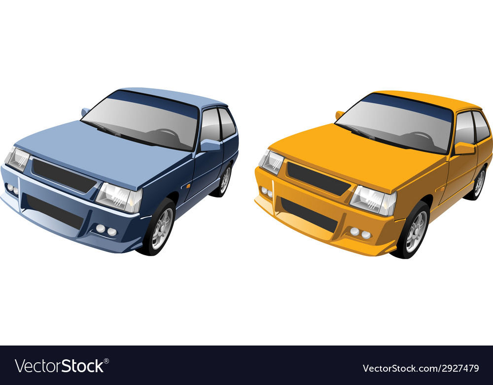 Small compact car vector | Price: 3 Credit (USD $3)