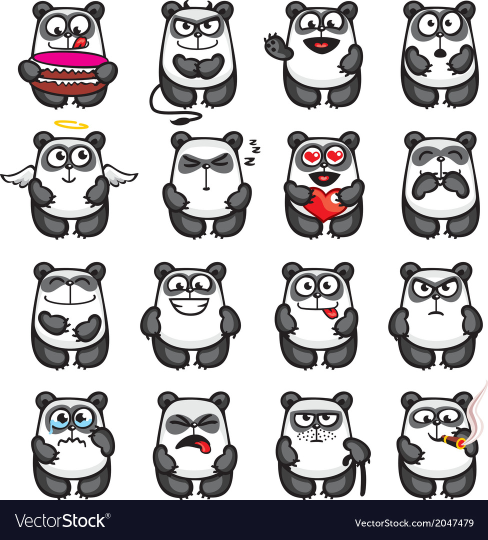 Smiley pandas vector | Price: 1 Credit (USD $1)
