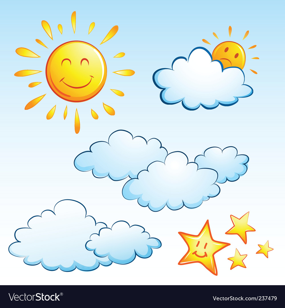 Summer weather vector | Price: 1 Credit (USD $1)
