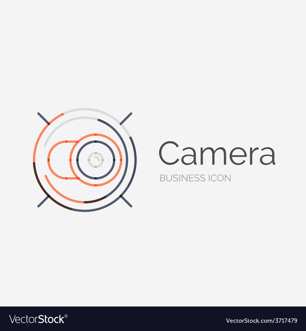 Thin line neat design logo camera concept vector | Price: 1 Credit (USD $1)