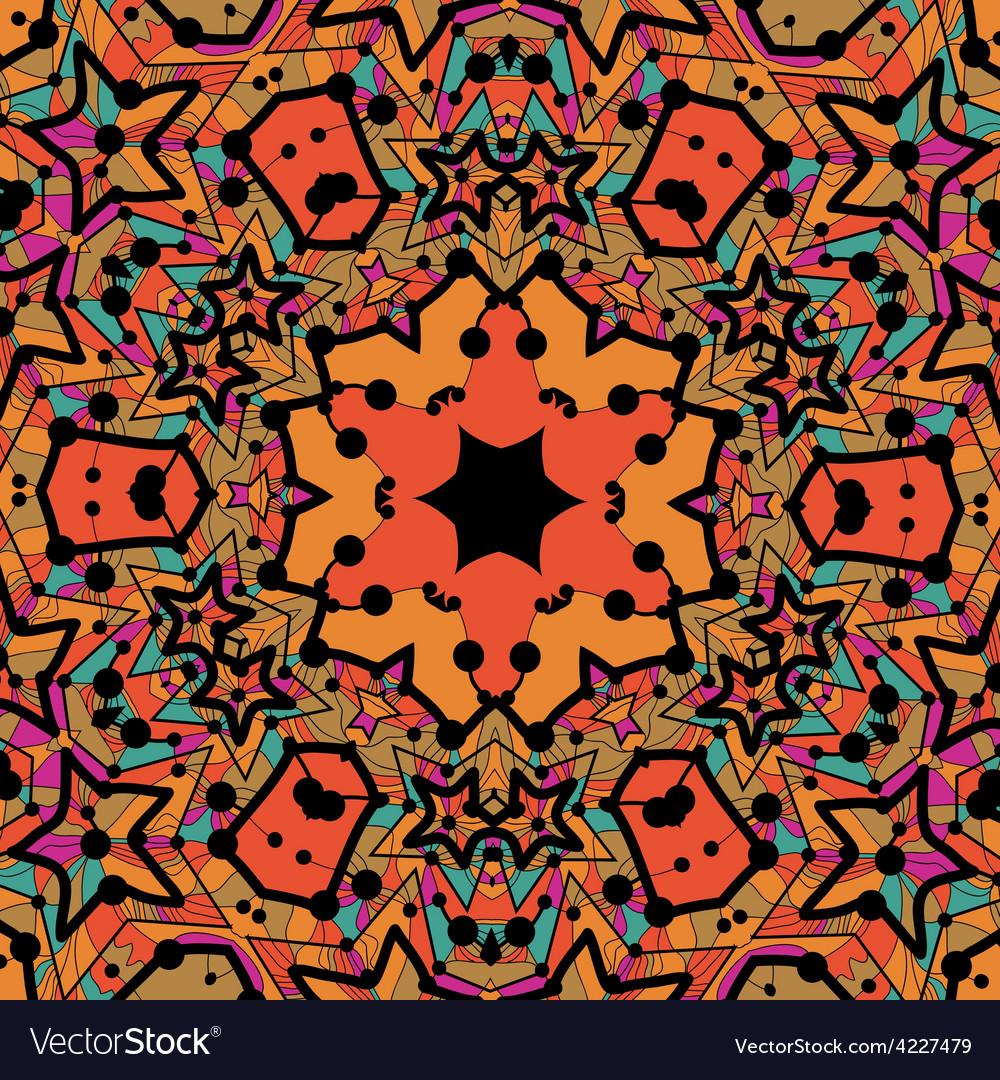 Tribal seamless design in orange color seamless vector | Price: 1 Credit (USD $1)