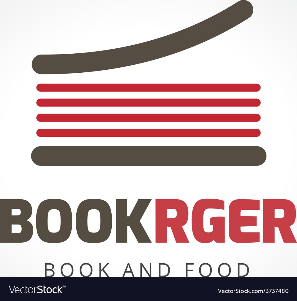 Abstract burger book logo template for branding vector | Price: 1 Credit (USD $1)