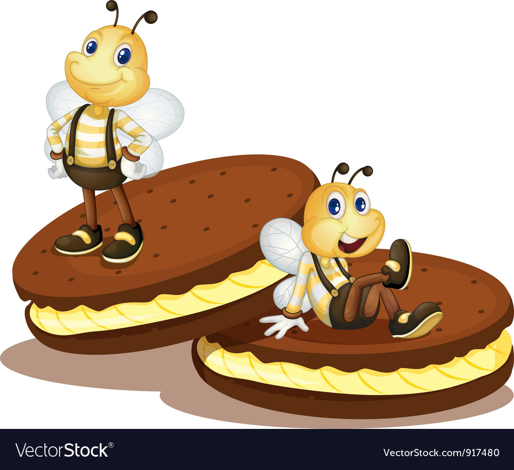 Bee biscuits vector | Price: 3 Credit (USD $3)