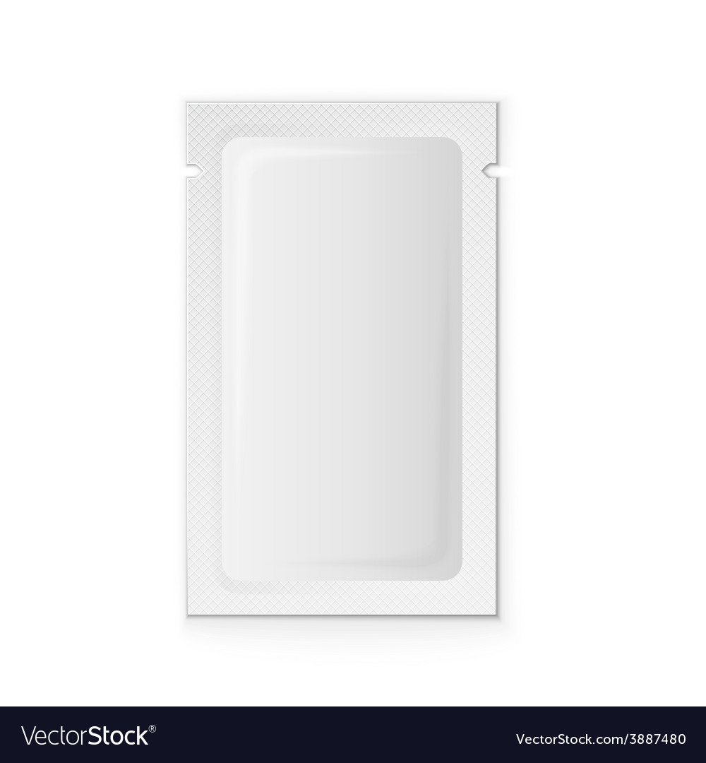 Blank white plastic sachet vector | Price: 1 Credit (USD $1)