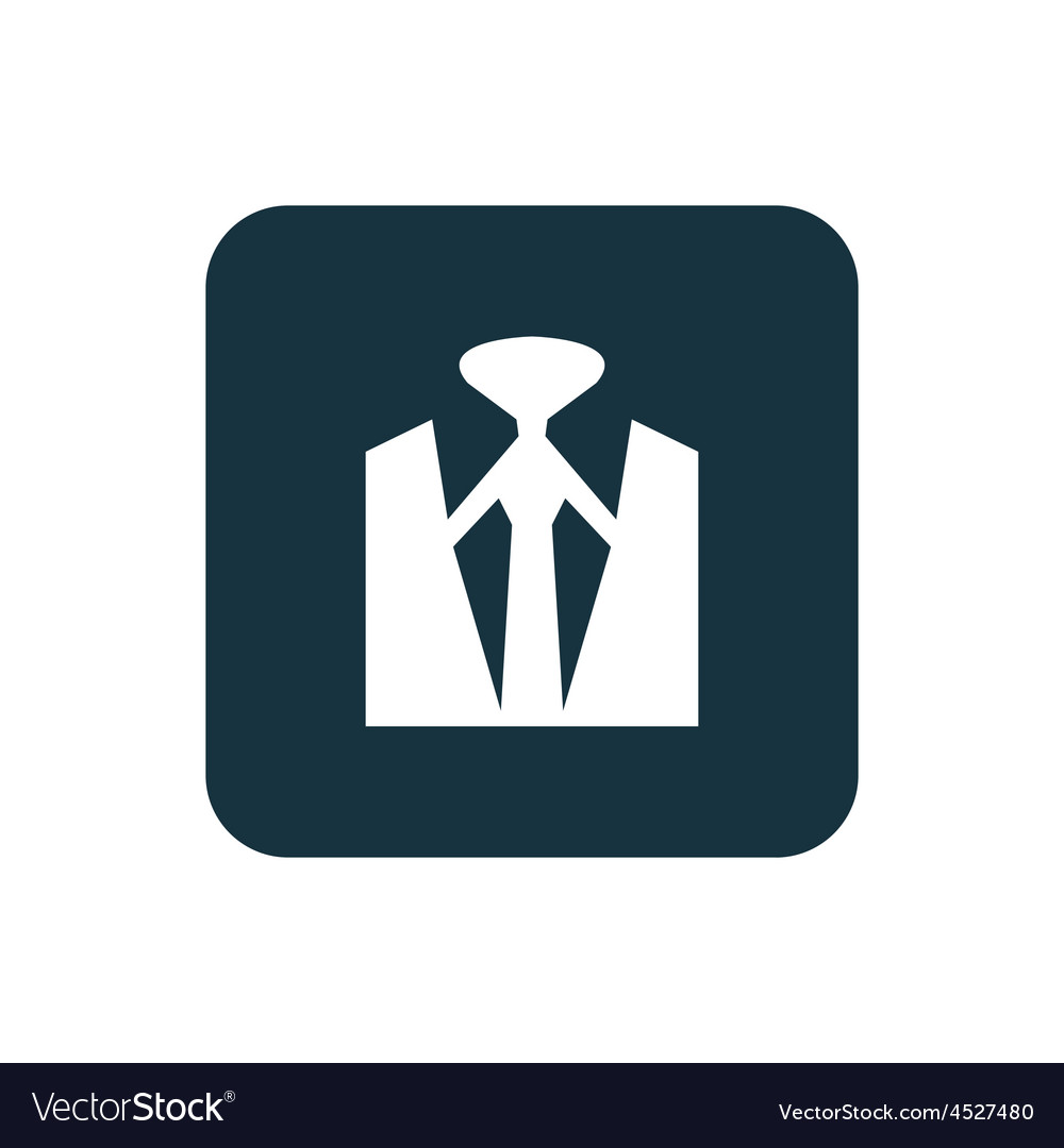 Business wear icon rounded squares button vector | Price: 1 Credit (USD $1)