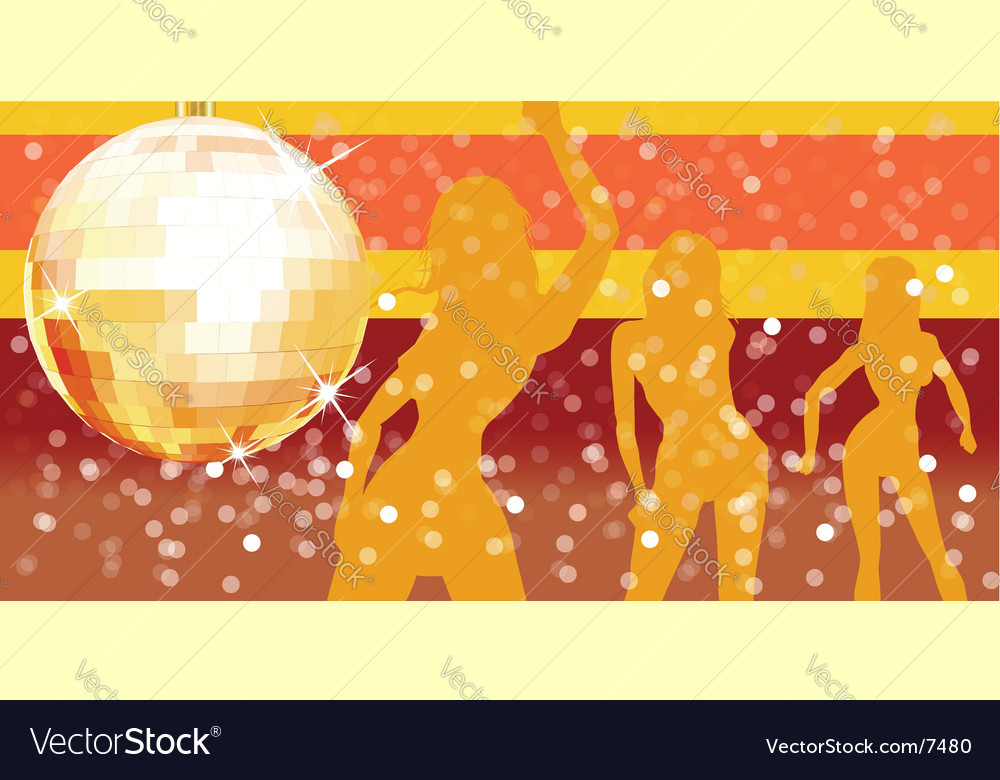 Disco ball with pary background vector | Price: 1 Credit (USD $1)