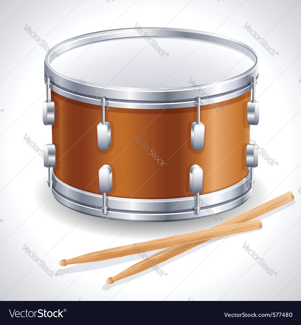 Drum and drumsticks vector | Price: 1 Credit (USD $1)