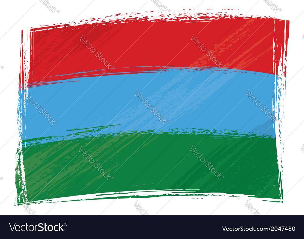Grunge karelia flag vector   Price: 1 Credit (USD $1)