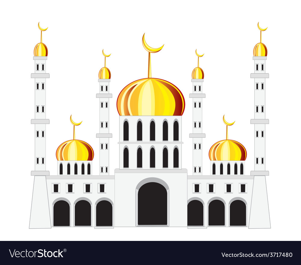 Mosque on white background vector | Price: 1 Credit (USD $1)