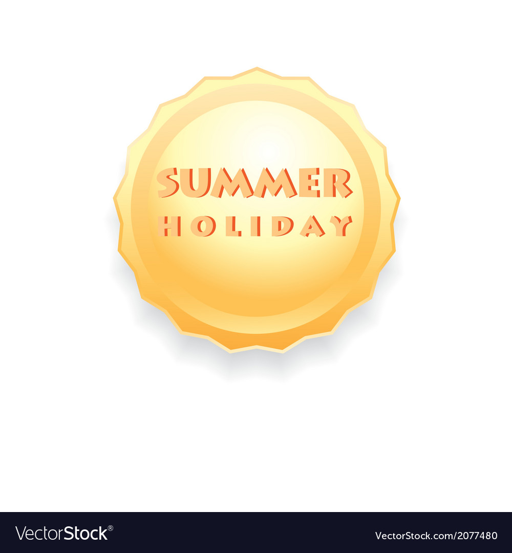 Sign of the sun summer holiday vector | Price: 1 Credit (USD $1)