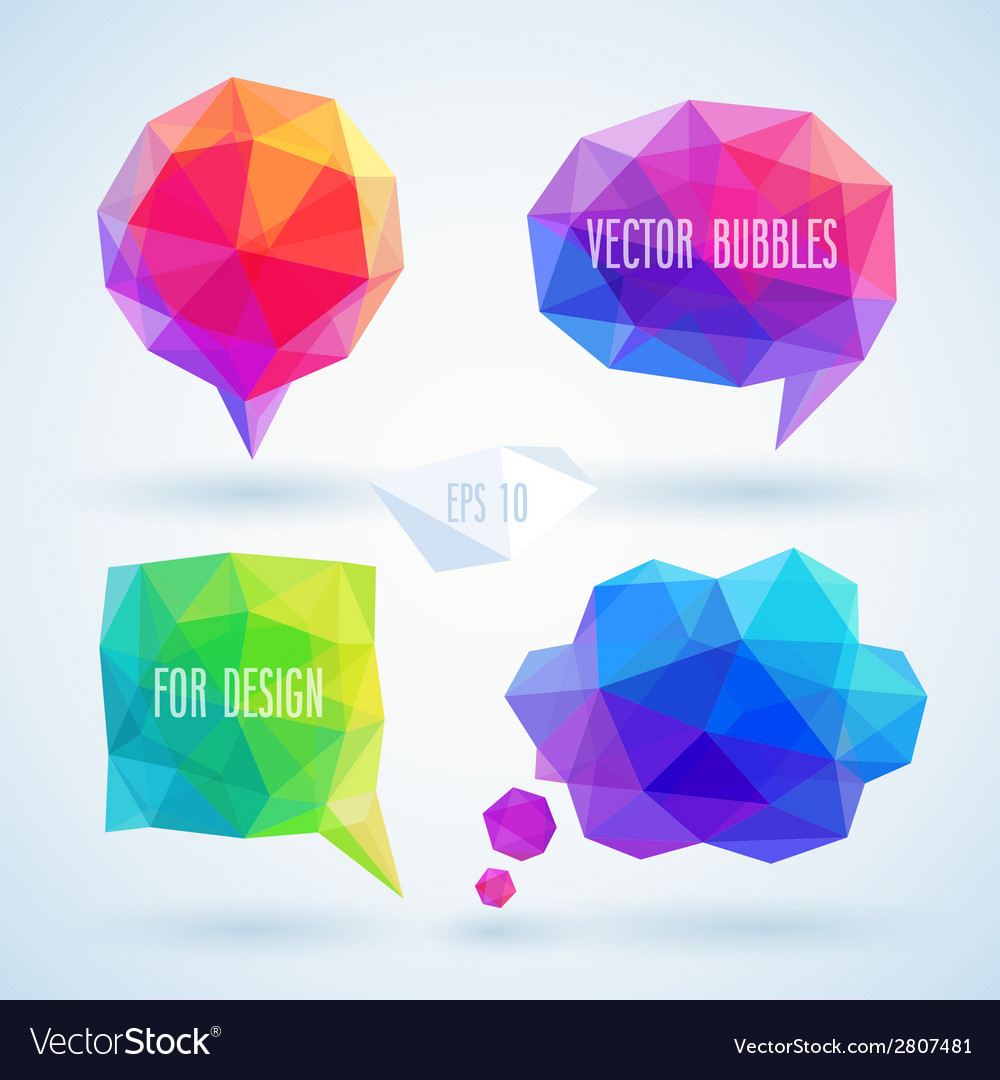 Bubbles hipster set vector | Price: 1 Credit (USD $1)