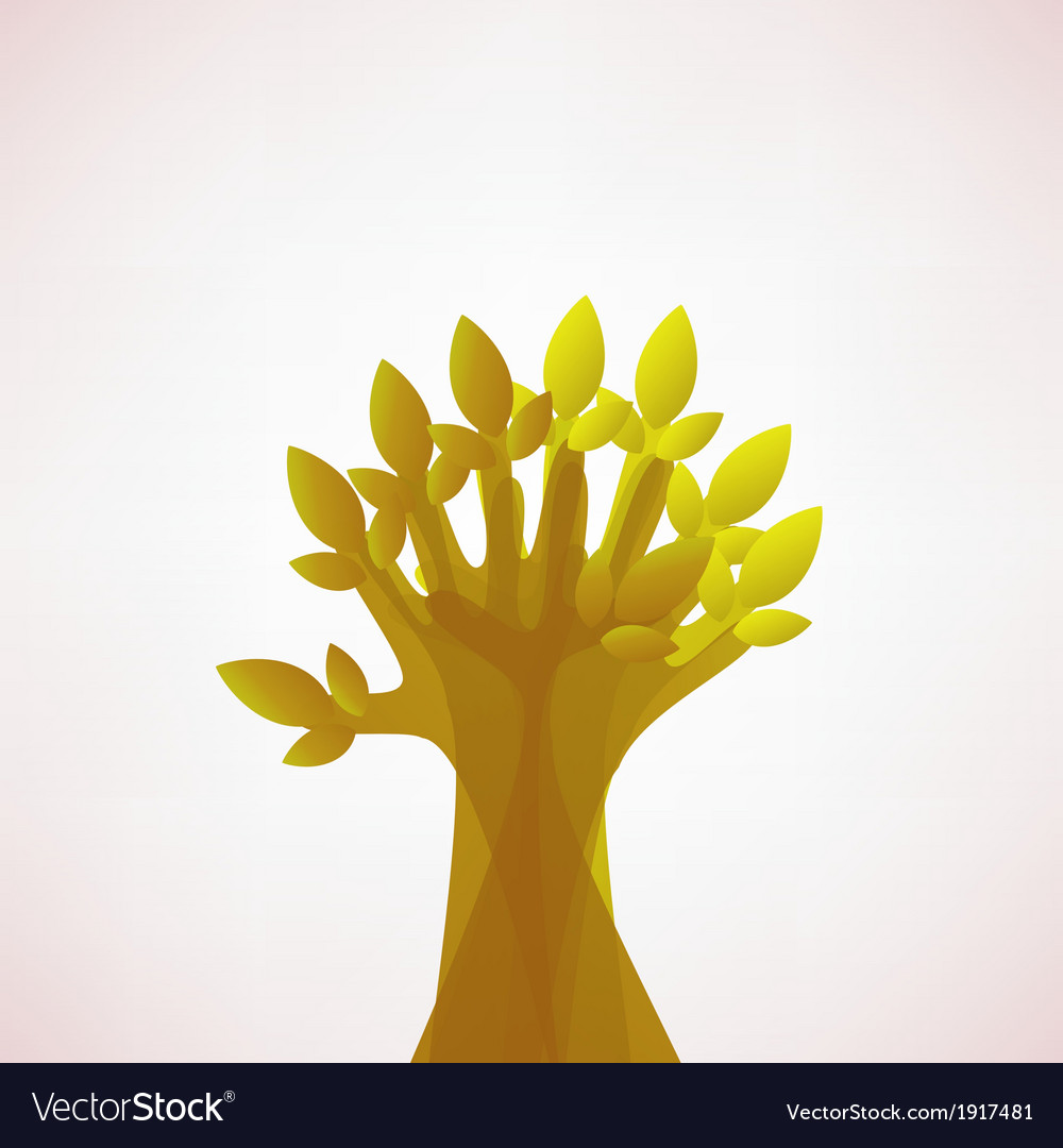 Hoping tree hands vector | Price: 1 Credit (USD $1)