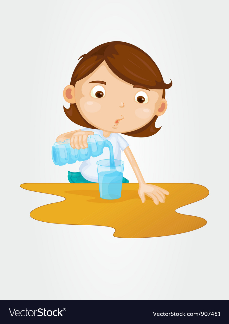 Pouring water vector | Price: 3 Credit (USD $3)