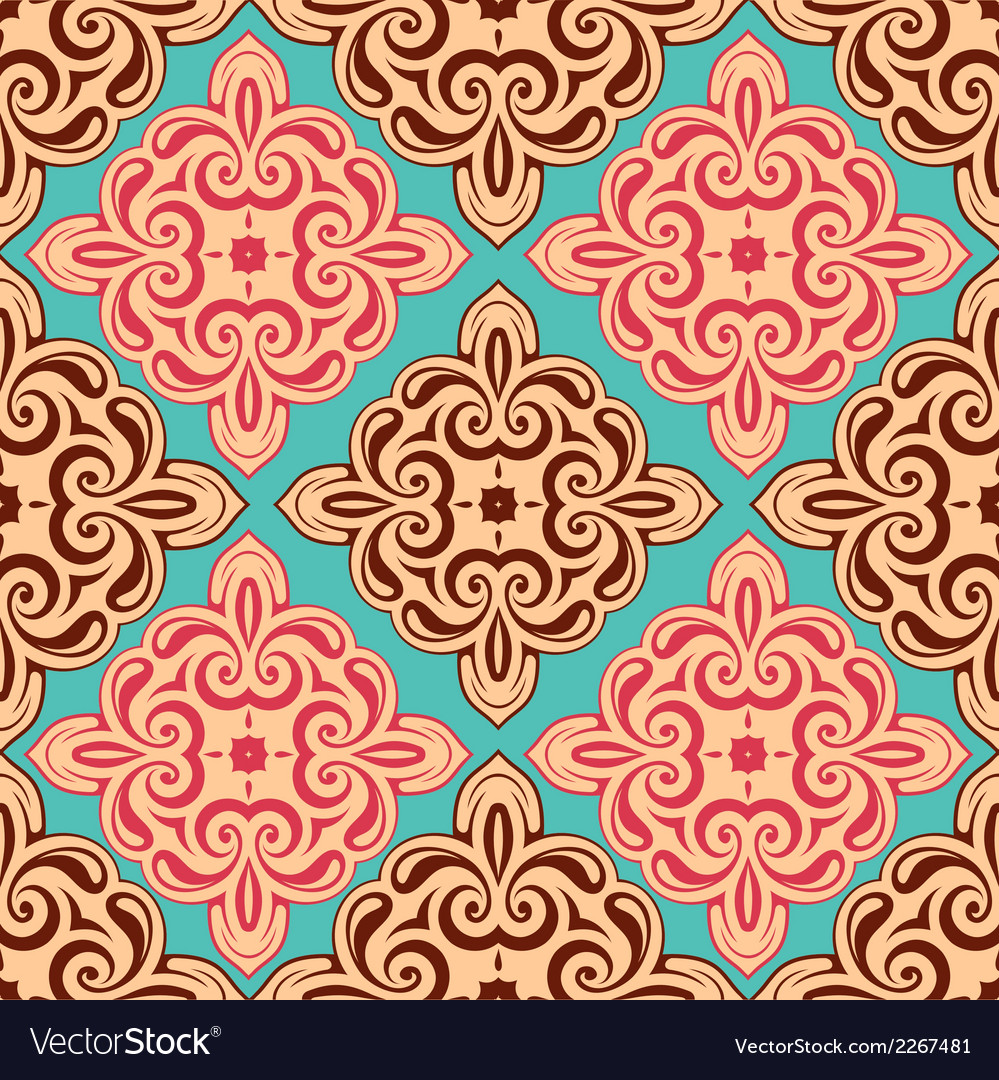 Seamless abstraction orient style vector | Price: 1 Credit (USD $1)