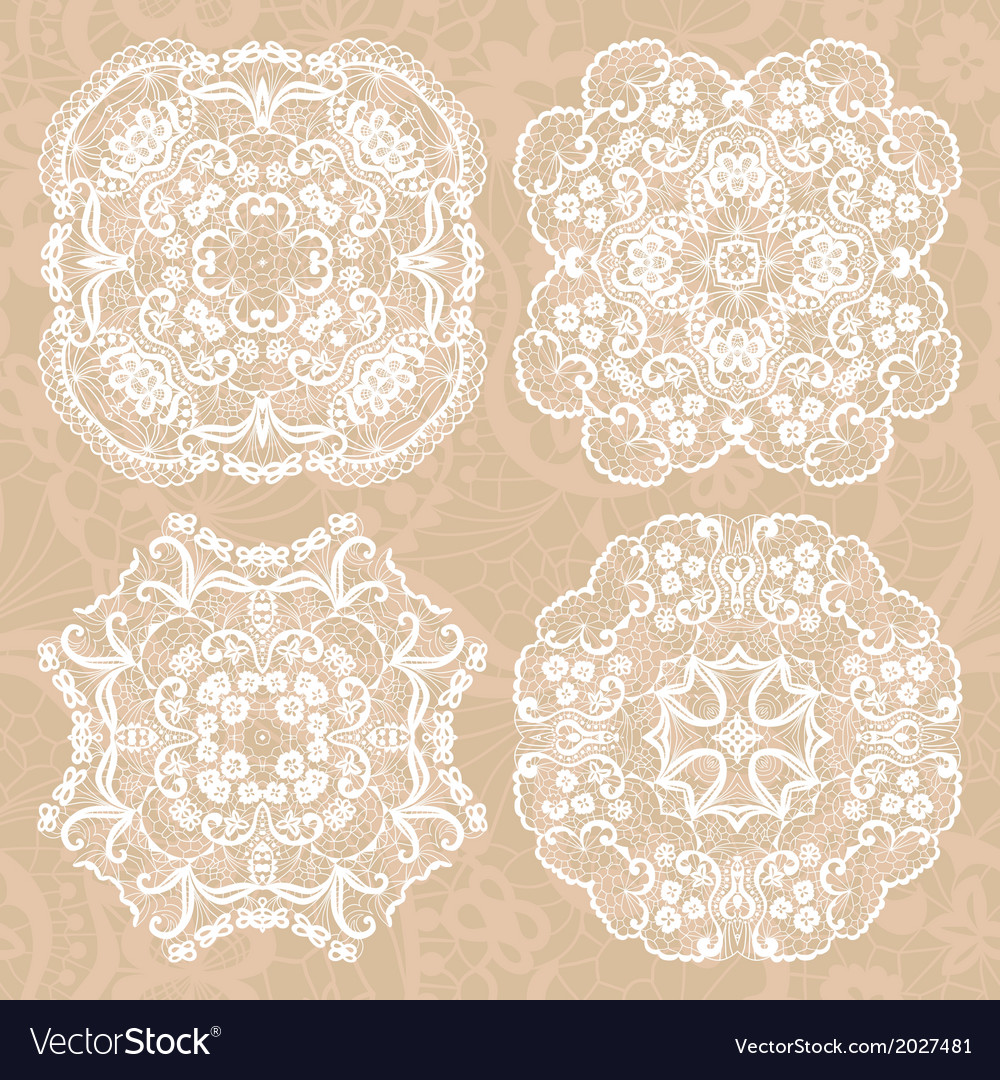Set of lace ornaments vector | Price: 1 Credit (USD $1)