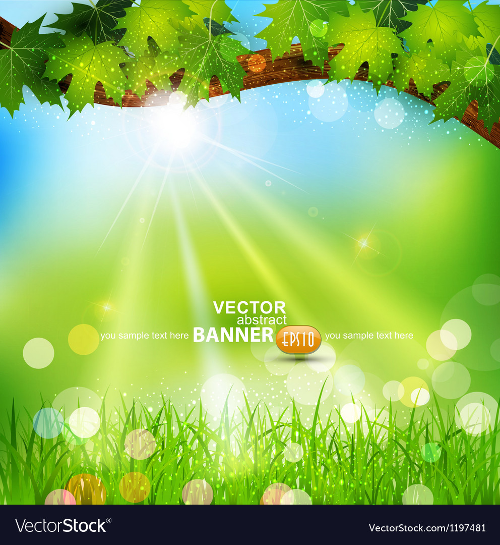 Spring background with trees vector | Price: 1 Credit (USD $1)