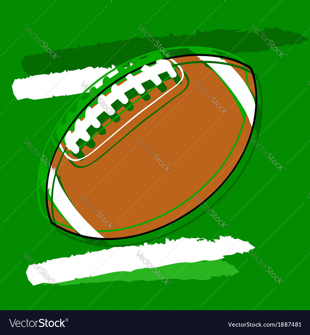 Stylized football vector | Price: 1 Credit (USD $1)