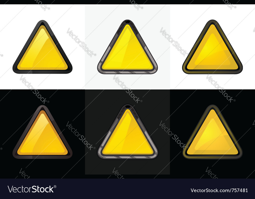 Triangle web button vector | Price: 1 Credit (USD $1)