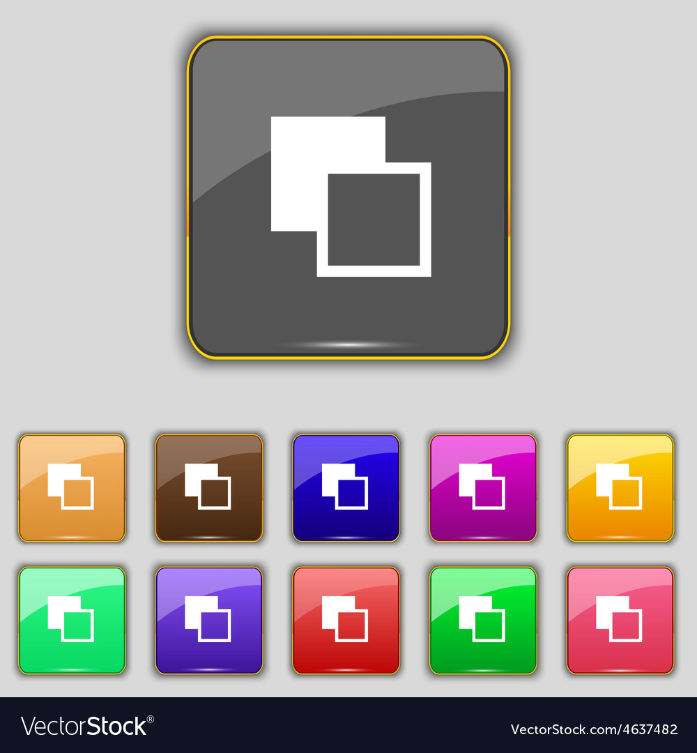 Active color toolbar icon sign set with eleven vector | Price: 1 Credit (USD $1)