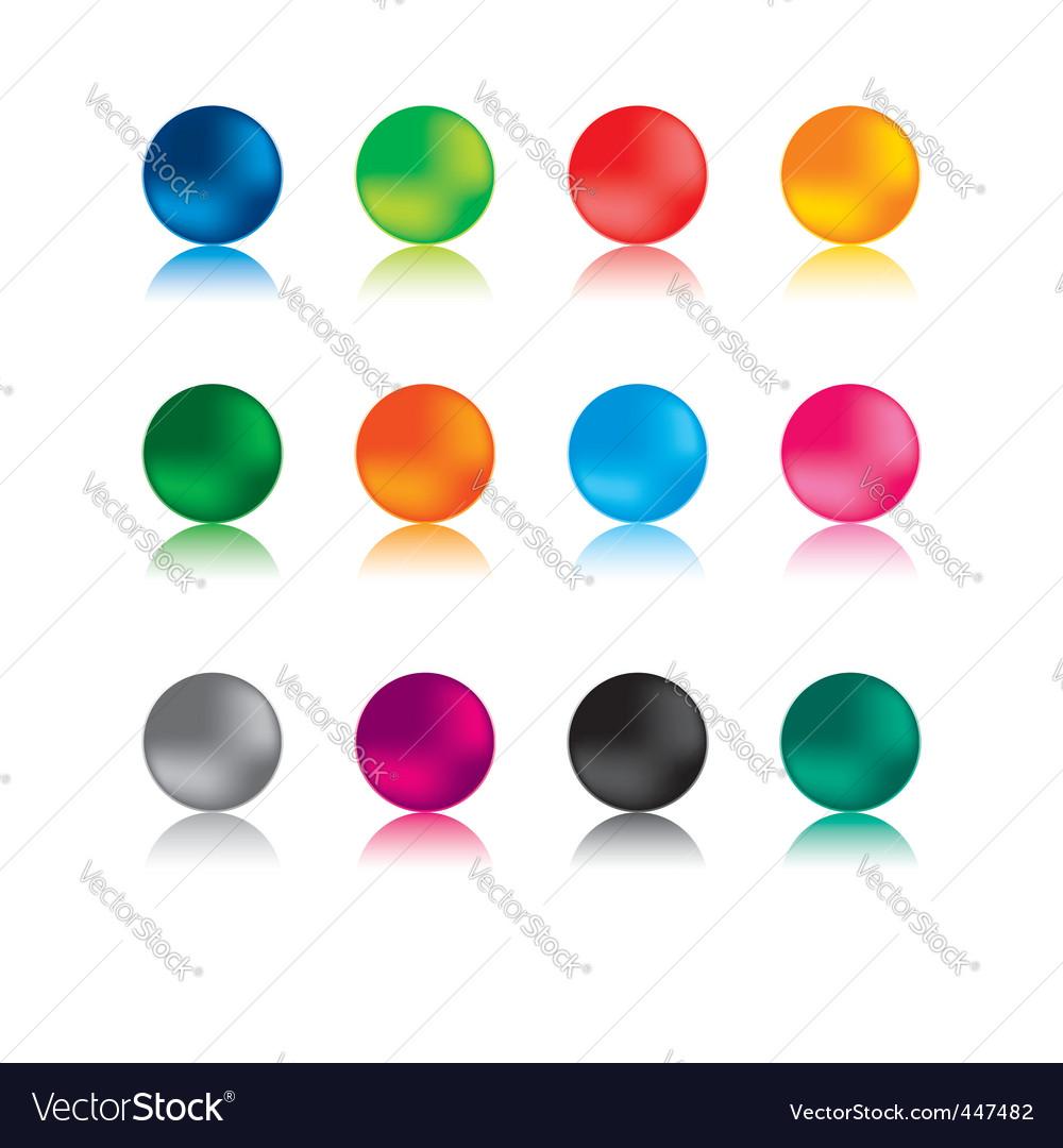 Aqua buttons vector | Price: 1 Credit (USD $1)