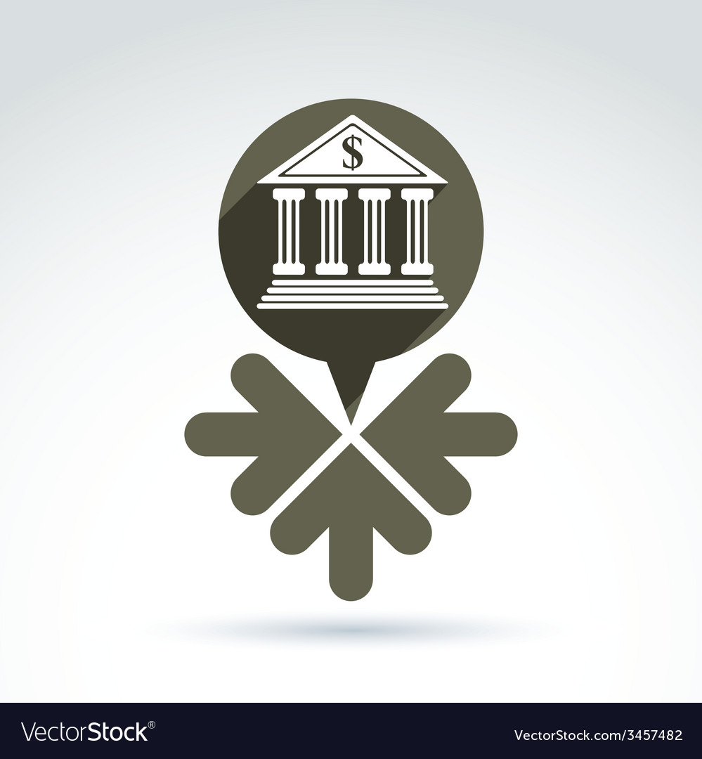 Banking symbol revenue sources concept speech vector | Price: 1 Credit (USD $1)