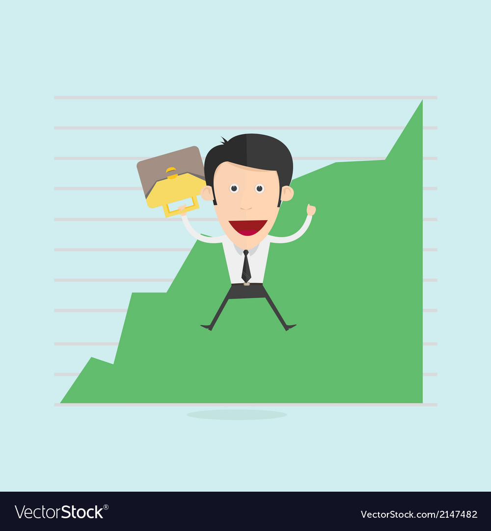 Businessman business people winning vector | Price: 1 Credit (USD $1)