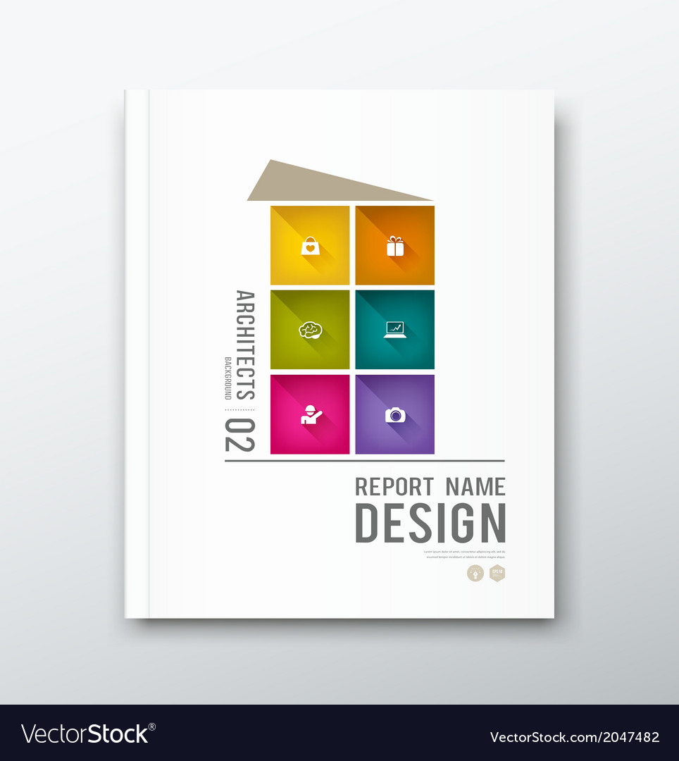 Cover annual report colorful building graphic vector | Price: 1 Credit (USD $1)