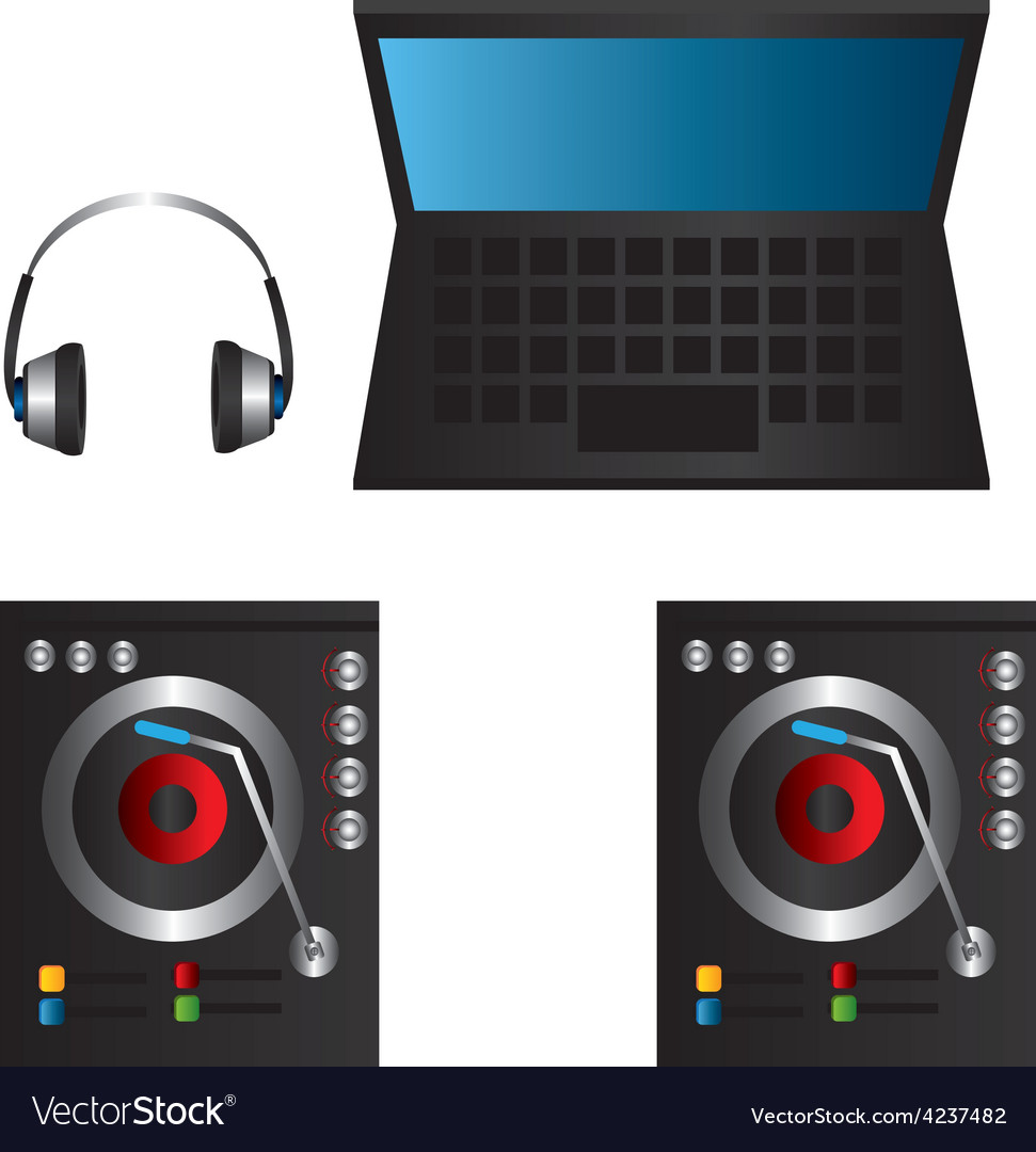 Dj design vector | Price: 1 Credit (USD $1)