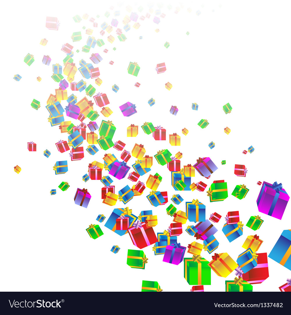 Festive background with colorful gift boxes vector | Price: 1 Credit (USD $1)