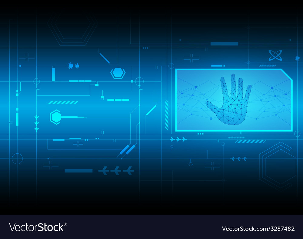 Interface electronic digital technology vector | Price: 1 Credit (USD $1)
