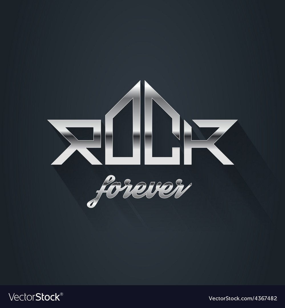Rock music forever - metal logo emblem label badge vector | Price: 1 Credit (USD $1)