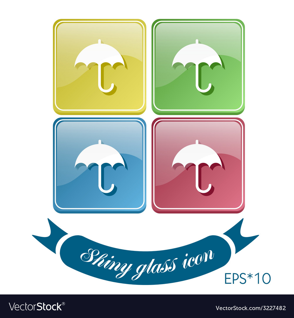 Umbrella symbol umbrella protection from rain and vector | Price: 1 Credit (USD $1)