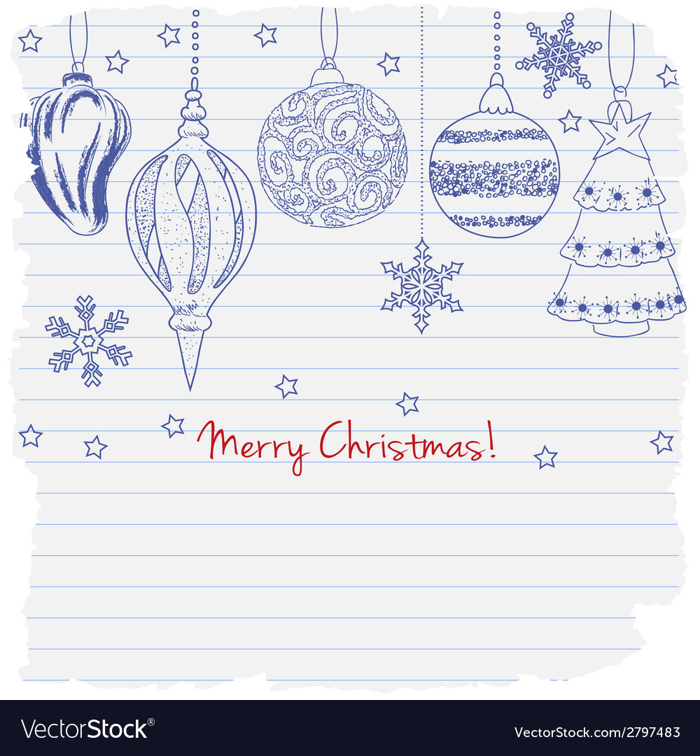 2015 merry christmas greeting card vector | Price: 1 Credit (USD $1)