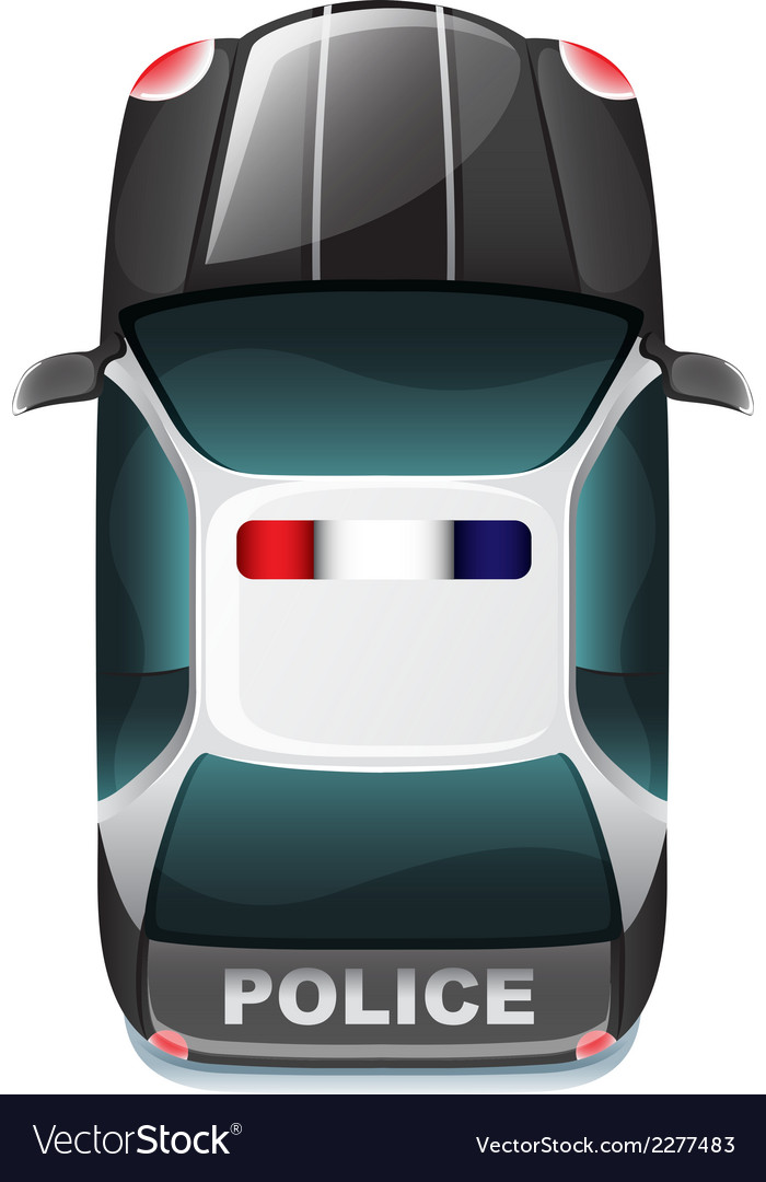 A police vehicle vector | Price: 1 Credit (USD $1)