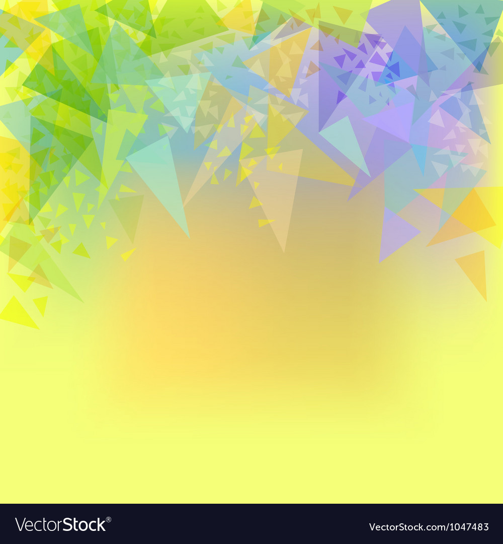 Abstract yellow background with triangles vector | Price: 1 Credit (USD $1)