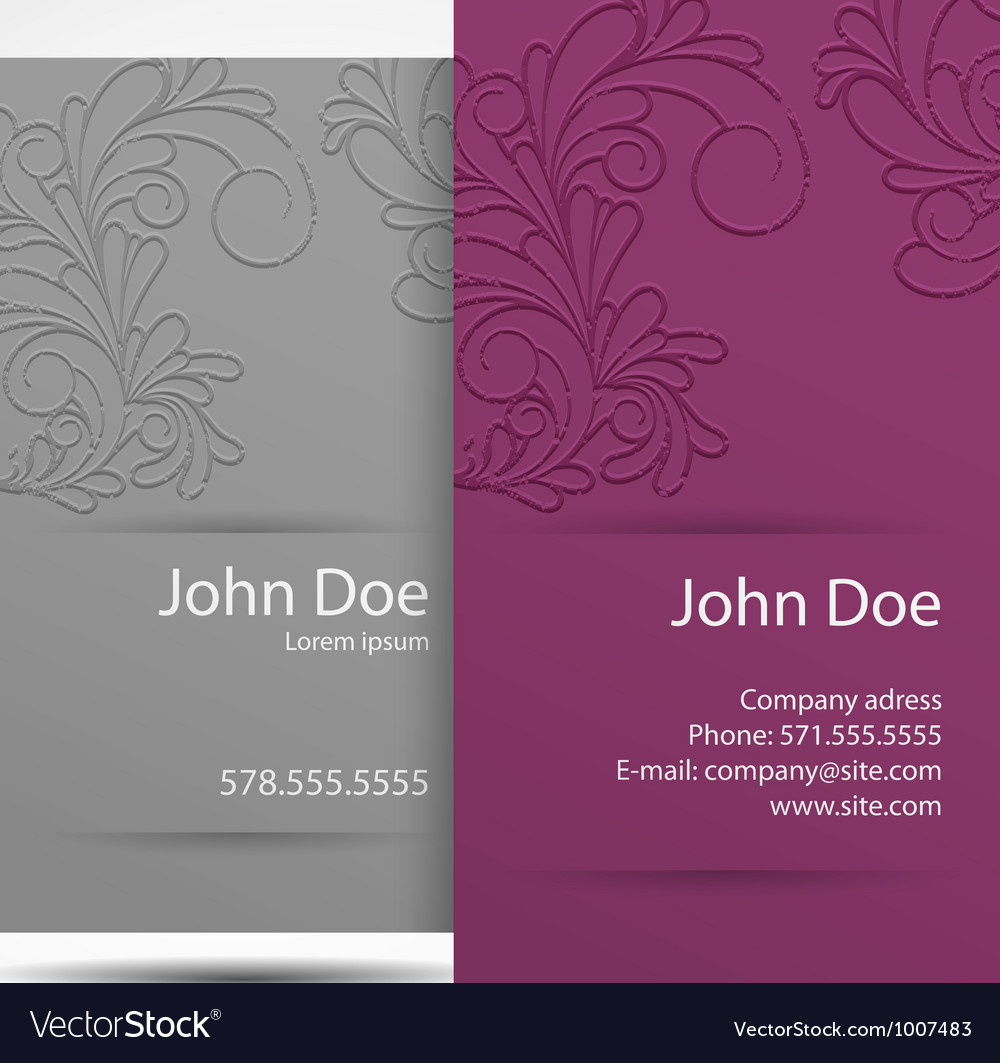 Business card monochrome vector | Price: 1 Credit (USD $1)