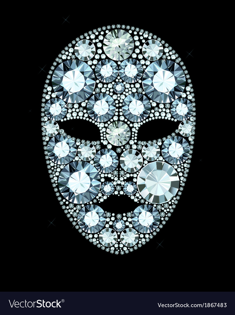 Diamond mask vector | Price: 1 Credit (USD $1)