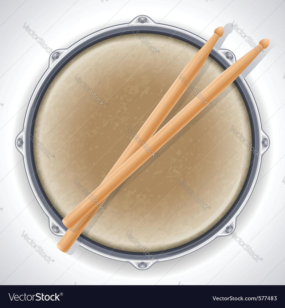 Drum and drumsticks vector | Price: 1 Credit (USD $1)