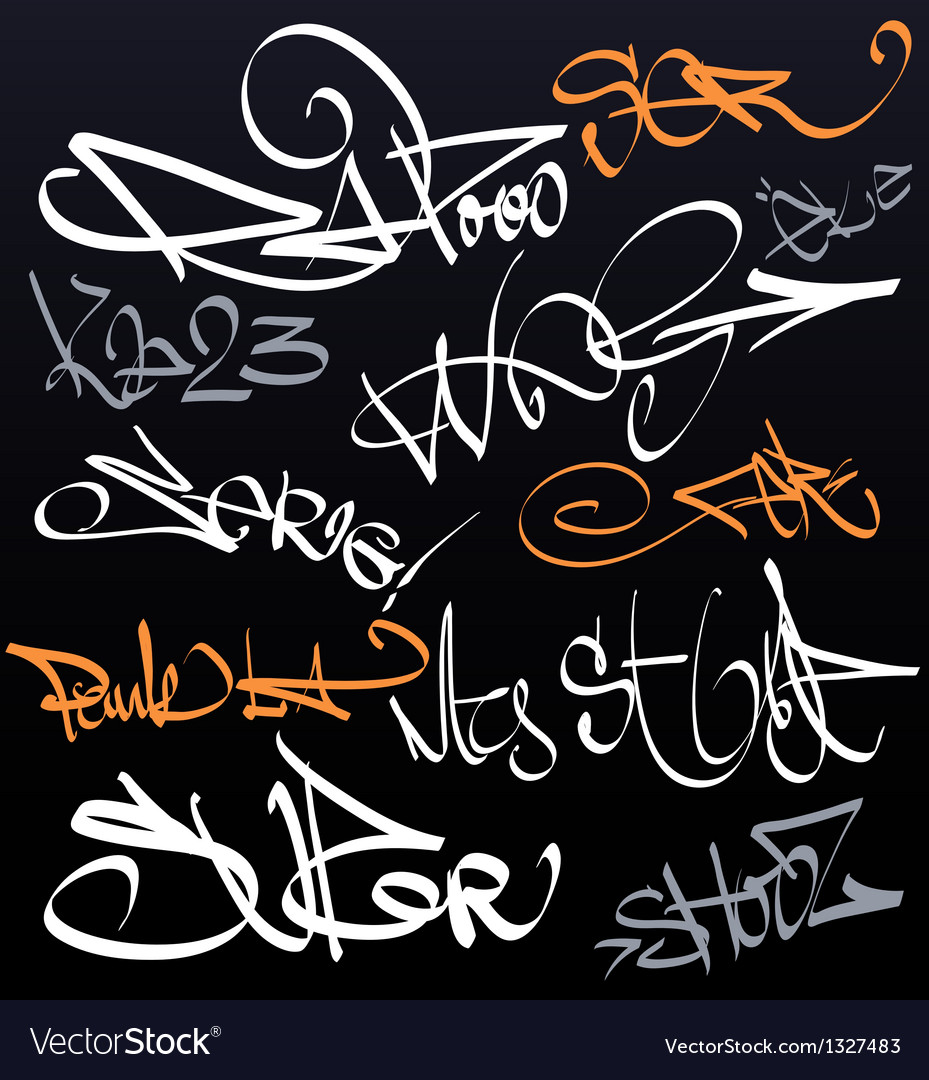 Graffiti tags urban signature vector | Price: 1 Credit (USD $1)