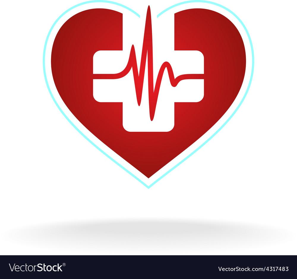 Heart logo vector | Price: 1 Credit (USD $1)