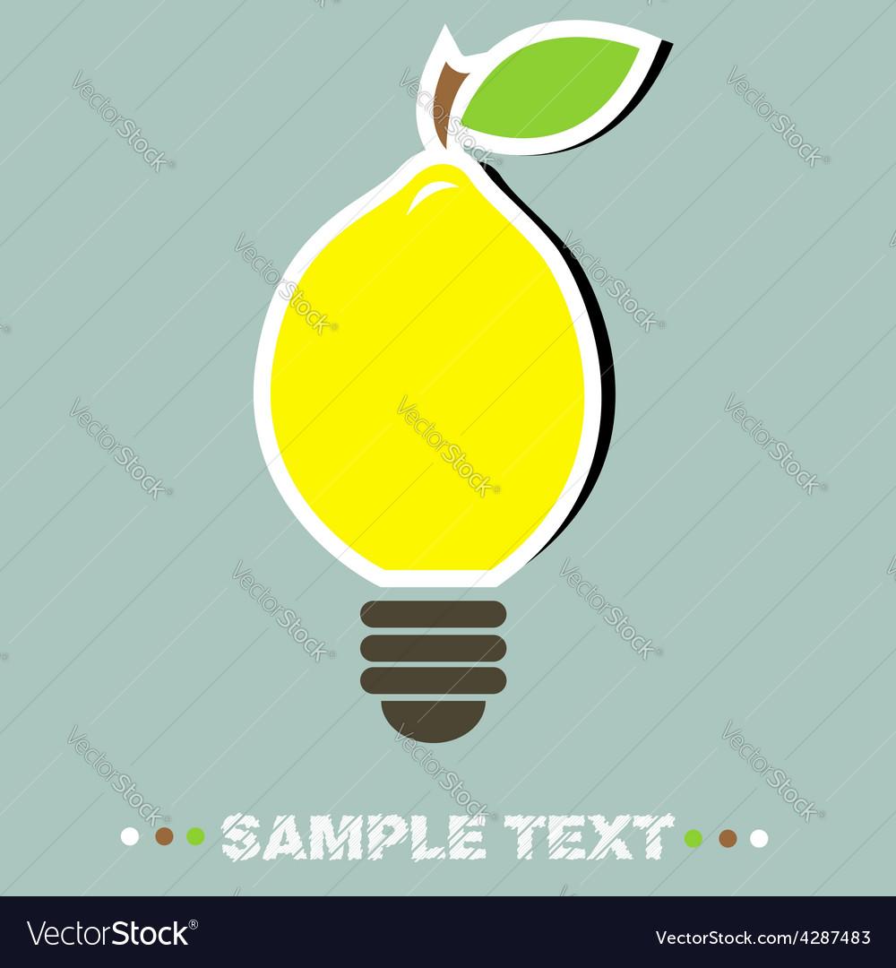 Lemon lamp vector | Price: 1 Credit (USD $1)