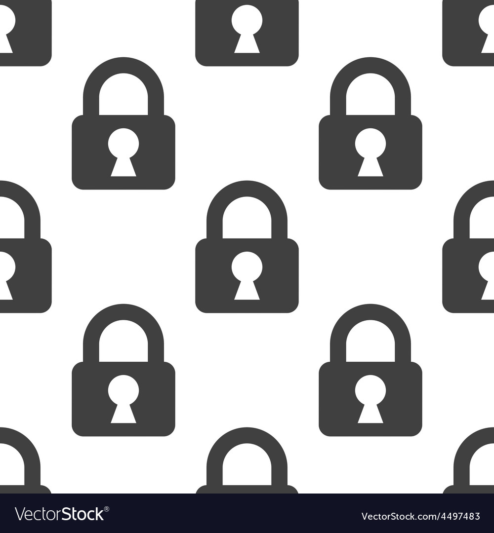 Lock seamless pattern vector | Price: 1 Credit (USD $1)