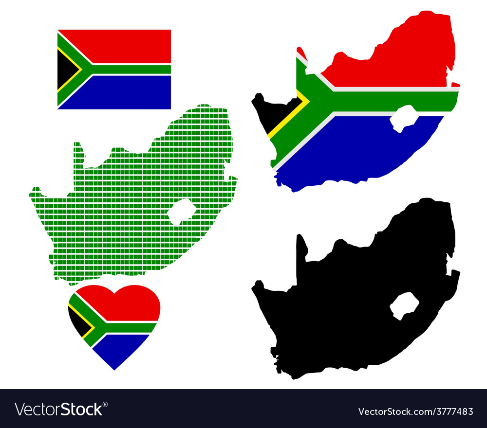 Map of south africa vector | Price: 1 Credit (USD $1)