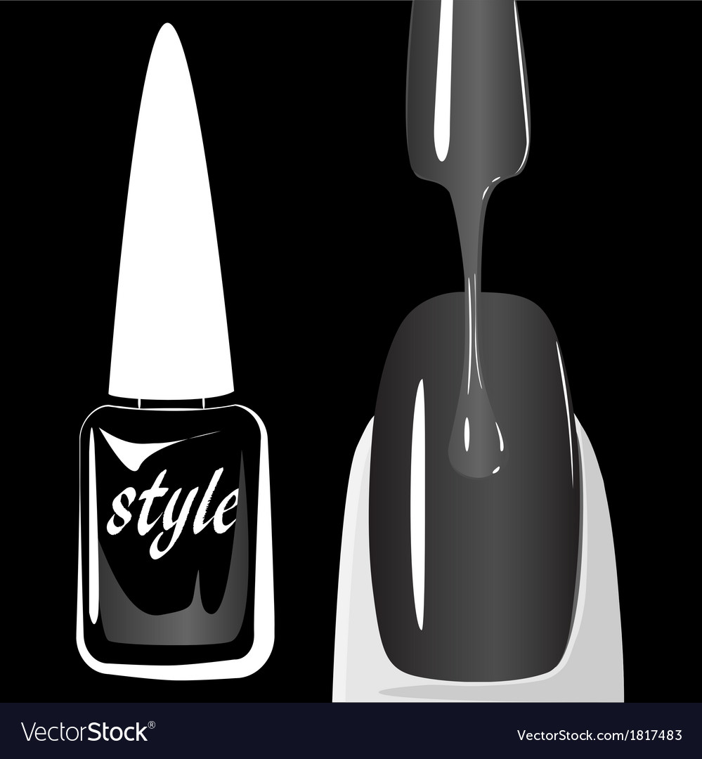 Nail polish on black background vector | Price: 1 Credit (USD $1)